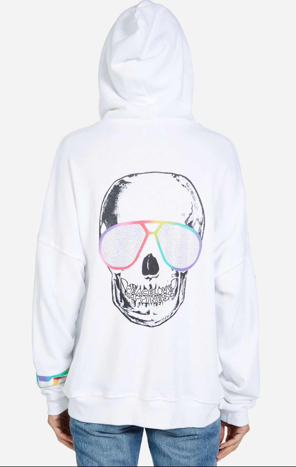 Koa Cool Crystal Bright Skull  Zip Hoodie