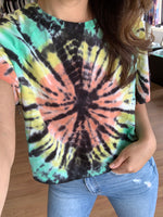 Load image into Gallery viewer, Boxy Tie Dye Raglan T