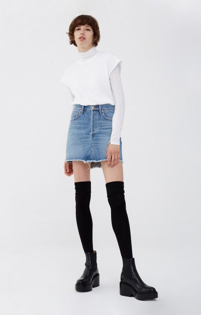 Quinn High Rise Denim Skirt