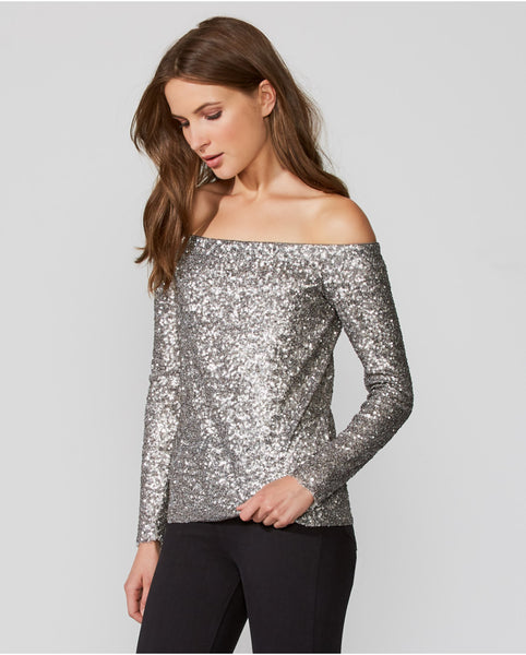Title Roll Sequin Top