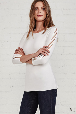 Trellis Ladder Sleeve Top