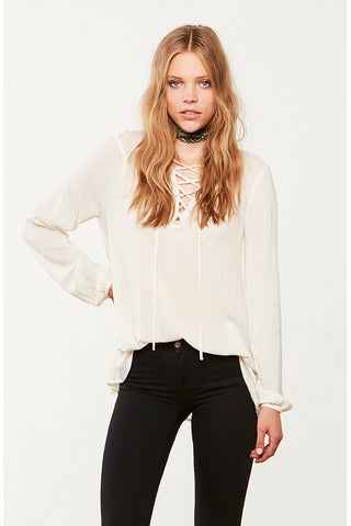 Eddingham Lace Up Top