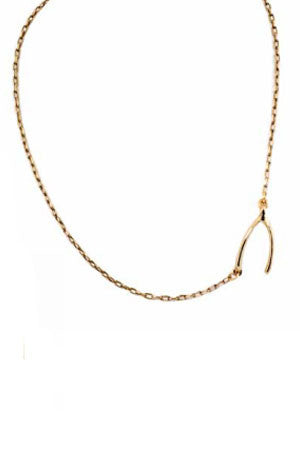 Wishbone Side Station Necklace