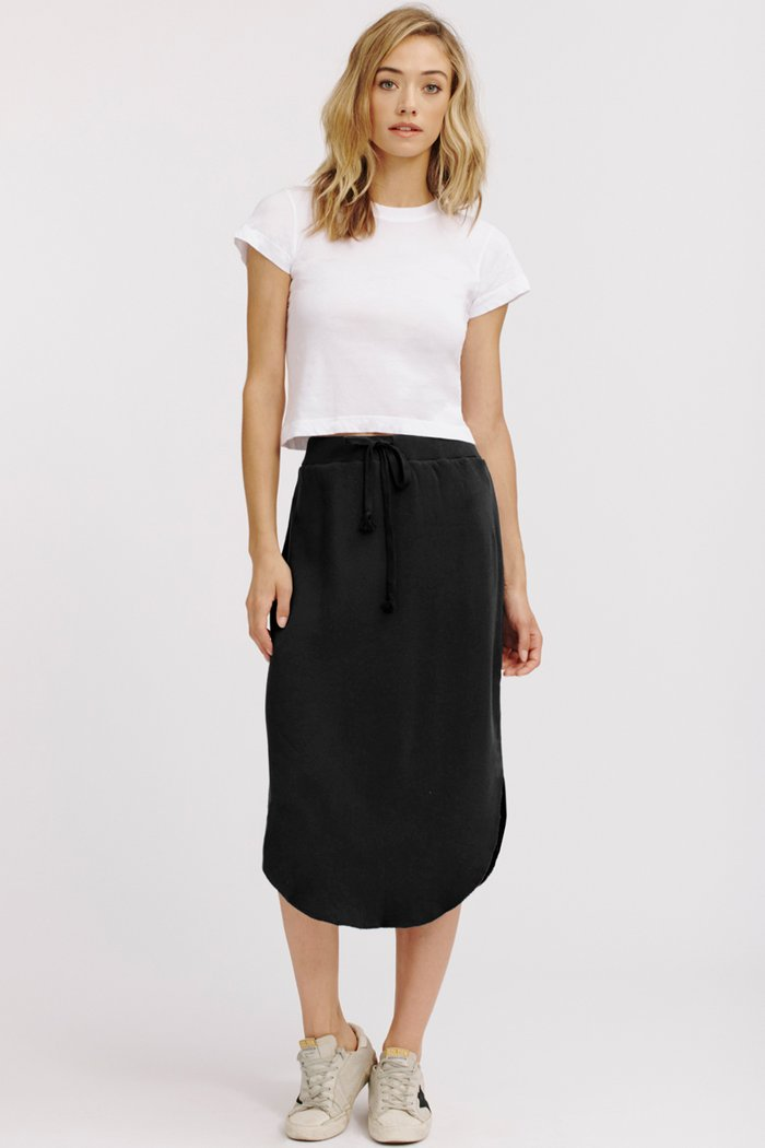 Brenna Cotton Fleece Skirt
