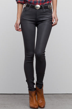 Leatherette Rocket High Rise Jean
