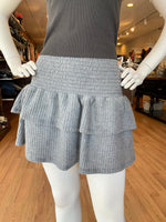 Load image into Gallery viewer, Waffle Smocked Ruffle Skirt