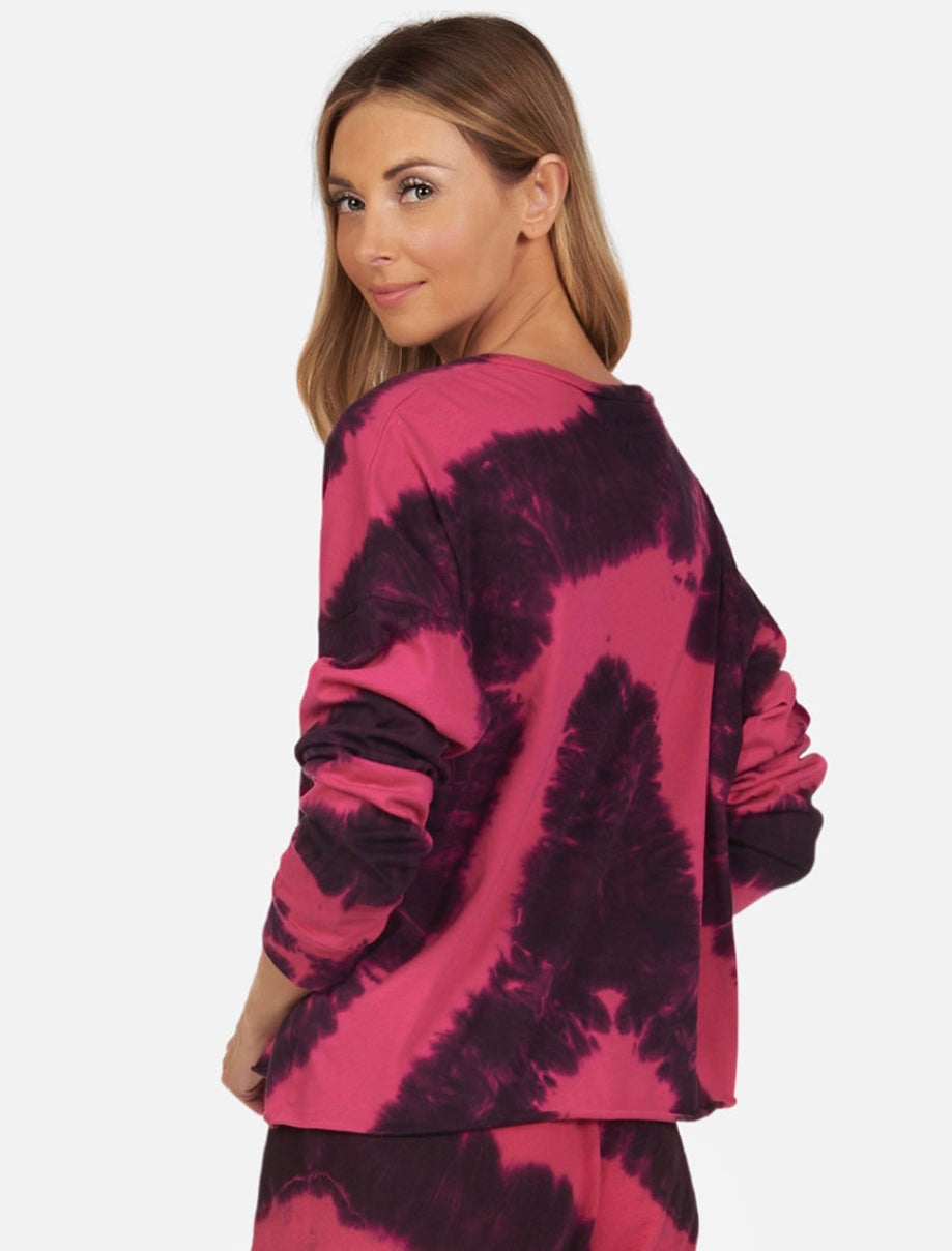 Darwin Tie Dye Heart Long Sleeve Tee