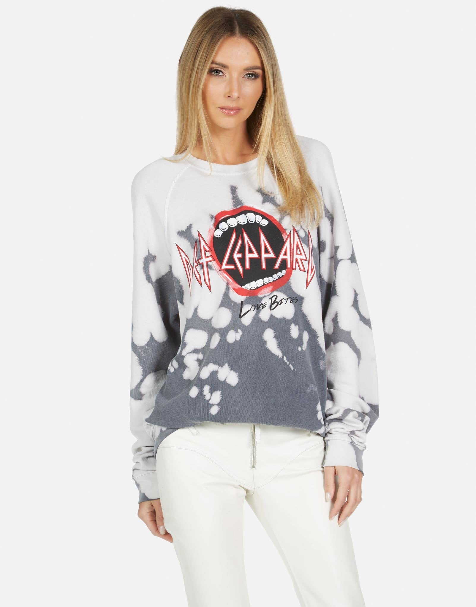 Anela Def Leppard Crew Pullover