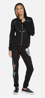 Load image into Gallery viewer, Gia Rainbow Skull Bolt Leg Sweatpant
