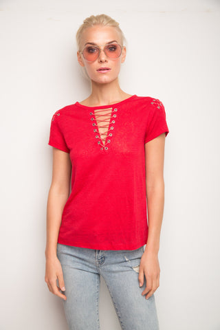 Hugo Lace Up Top