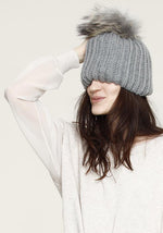 Load image into Gallery viewer, Julie Fur Pom Beanie