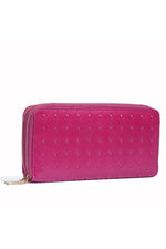 Load image into Gallery viewer, Pyramid Stud Wallet - Magenta