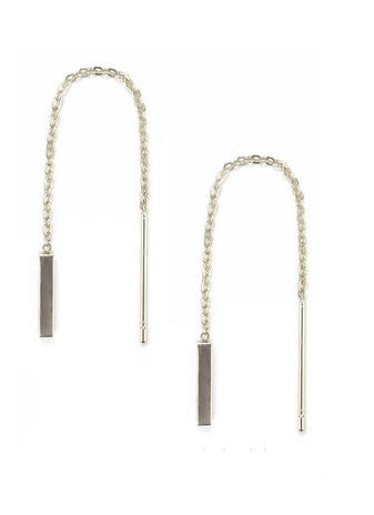 Thread Bar Earring