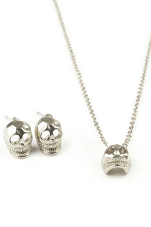 Skull Necklace Set