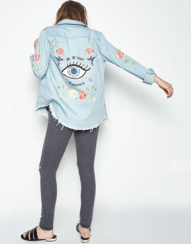 Sloane Eye Button Denim Shirt