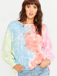 Always V Back Tie Dye Sweatshirt