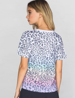 Load image into Gallery viewer, Rainbow Leopard Tee