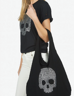 Load image into Gallery viewer, Taylor Canvas Skull Stud Tote