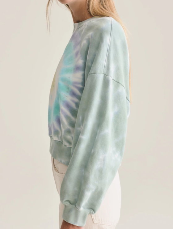 Balloon Sleeve Tie Dye Sweatshirt