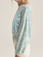 Load image into Gallery viewer, Balloon Sleeve Tie Dye Sweatshirt