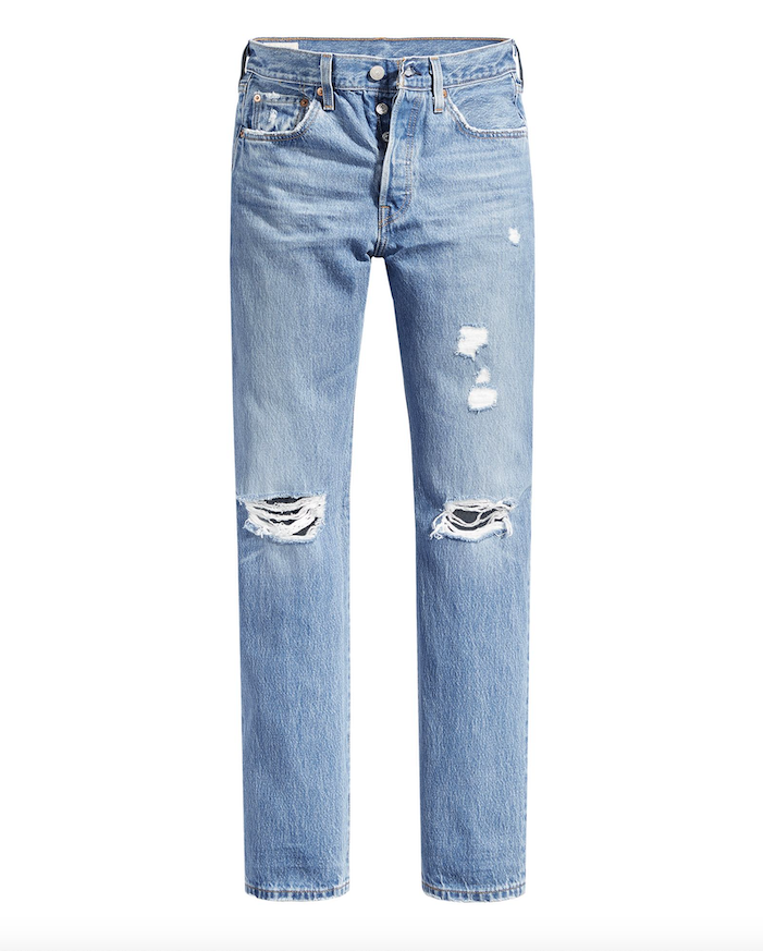 501 Destructed Straight Jean