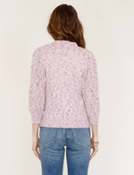 Load image into Gallery viewer, Desi Crochet Puff Sleeve Sweater