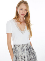 Load image into Gallery viewer, Santana Lace V Neck Top