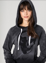 Load image into Gallery viewer, Stencil Skull Hood Sweatshirt