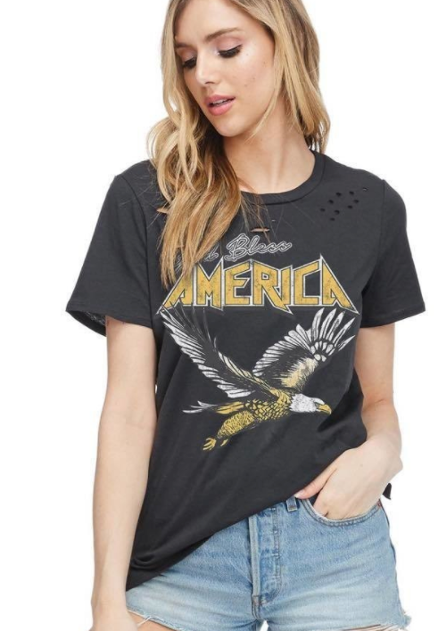 God Bless America Destructed Tee