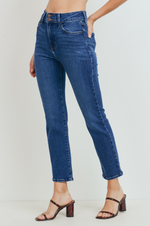 Load image into Gallery viewer, Double Button Straight Leg Jean