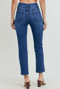 Double Button Straight Leg Jean