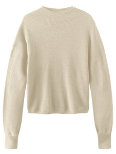 Bishop Sleeve Mock Neck Sweater