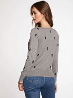 Load image into Gallery viewer, Embroidered Mini Skull Sweater