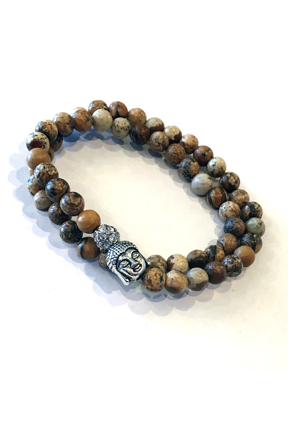 Double Wrap Stretch Buddha Bracelet/Choker