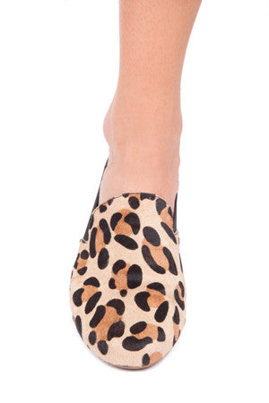 Leopard Pony Hair Ariel Smoking Shoe