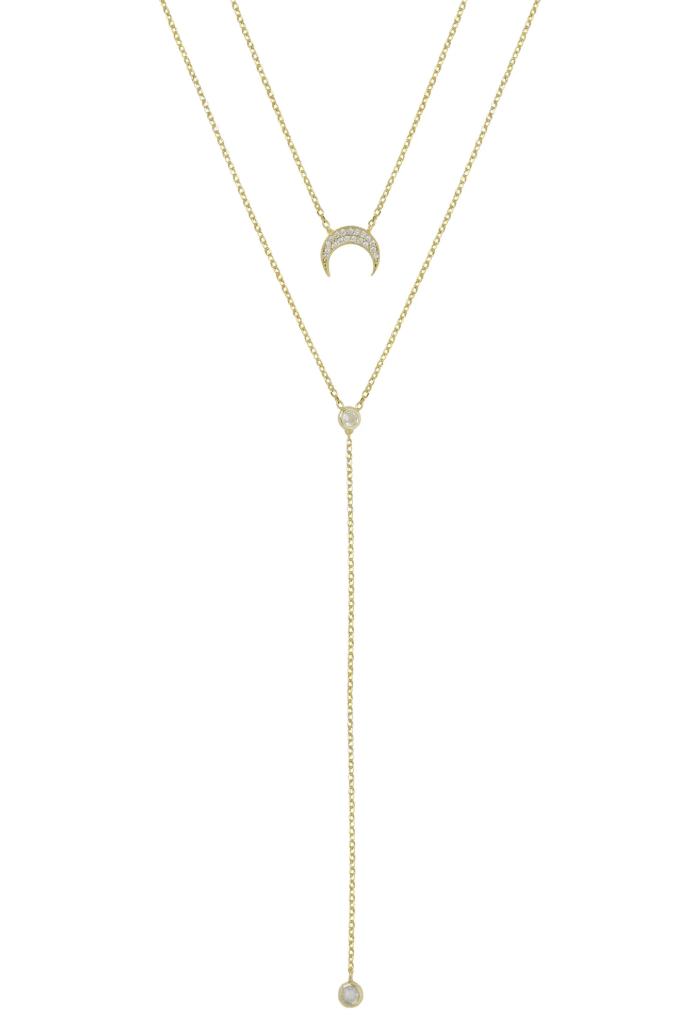 Dainty Layered Moon Necklace
