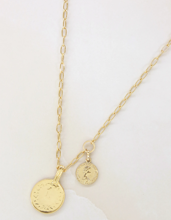 Simplicity Coin Necklace