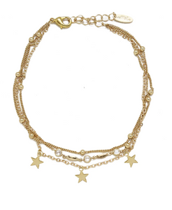 Star Searcher Anklet Gold