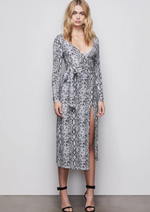 Load image into Gallery viewer, Python Wrap Dress