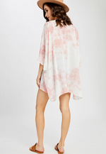 Load image into Gallery viewer, Tranquil Tie Dye Kimono