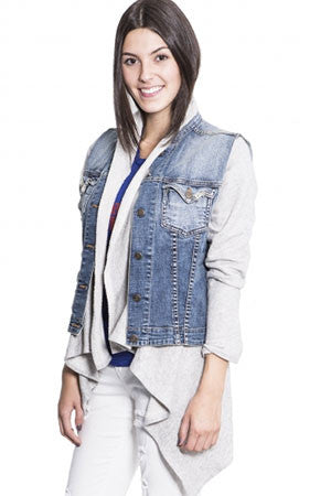 French Terry Vest Jacket