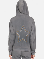Load image into Gallery viewer, Lennox Star Stud Zip Hoodie