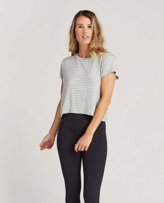 Ryan Stripe Crop Tee