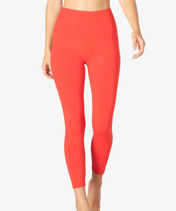 Solid High Rise Ankle Legging