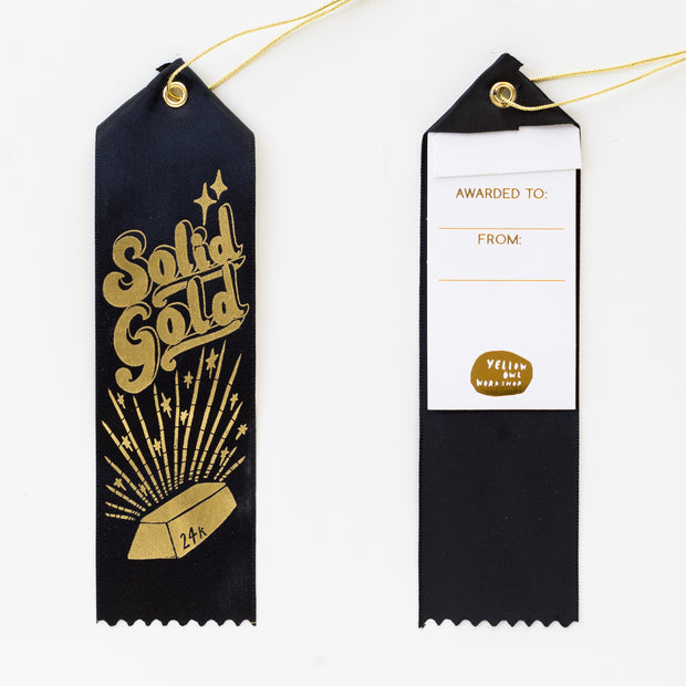 24k Solid Gold - Award Ribbon Card 1
