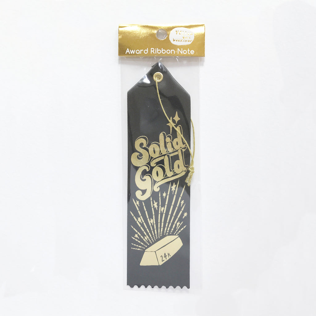 24k Solid Gold - Award Ribbon Card