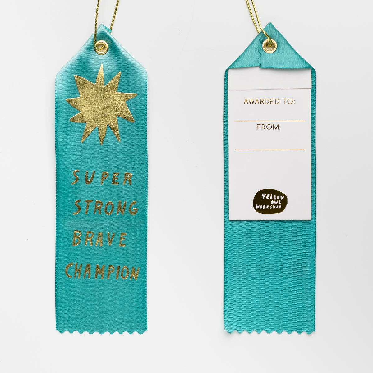 Super Strong Brave Champion - Award Ribbon Card