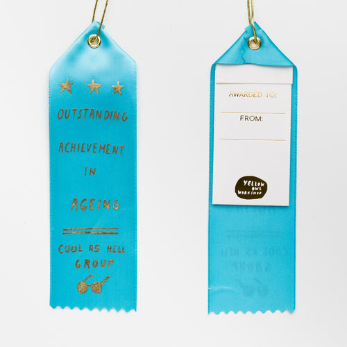 Outstanding Achievement in Ageing - Award Ribbon Card