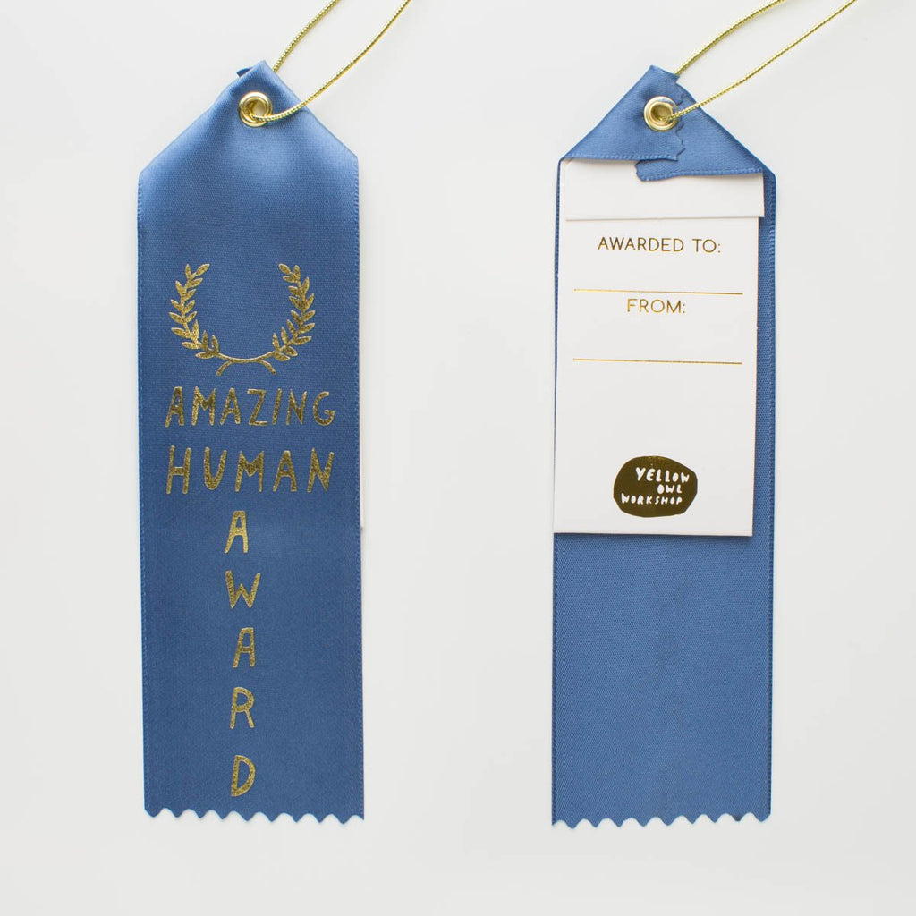 Amazing Human - Award Ribbon Card
