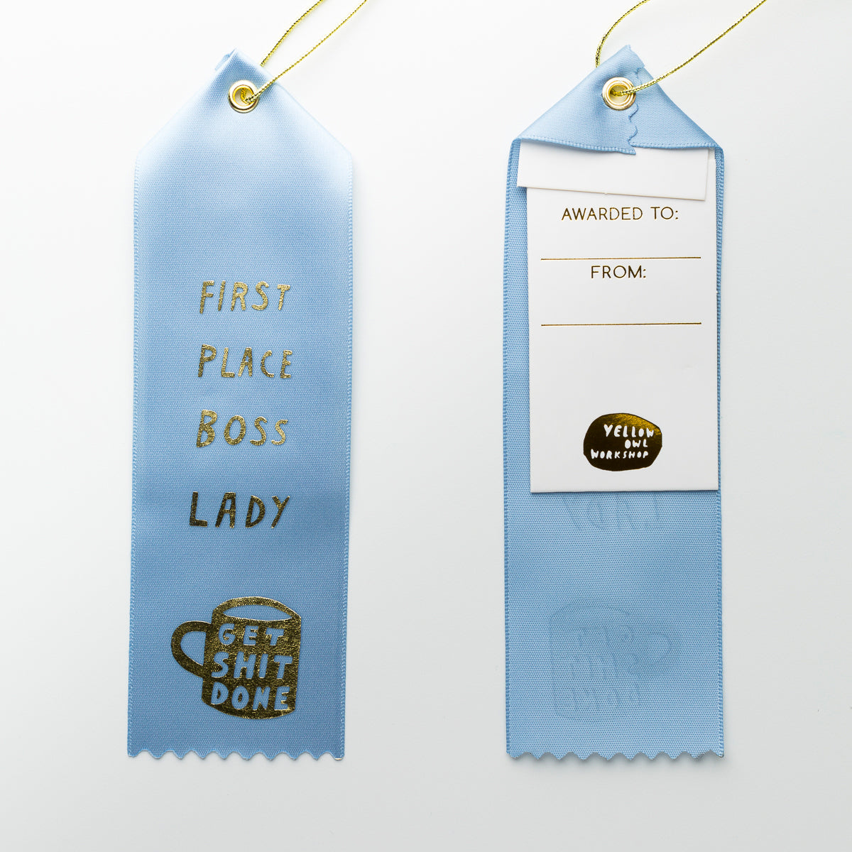 First Place Boss Lady - Award Ribbon Card
